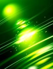 Картинка зеленая абстрация - зеленая